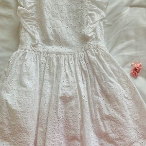Carters White eyelet dress in 4T